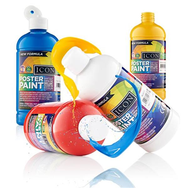 Icon Poster Paint 500ml Cyan