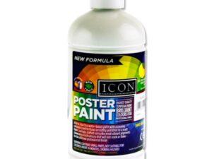 Icon Poster Paint 500ml White