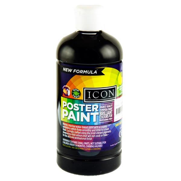 Icon Poster Paint 500ml Black