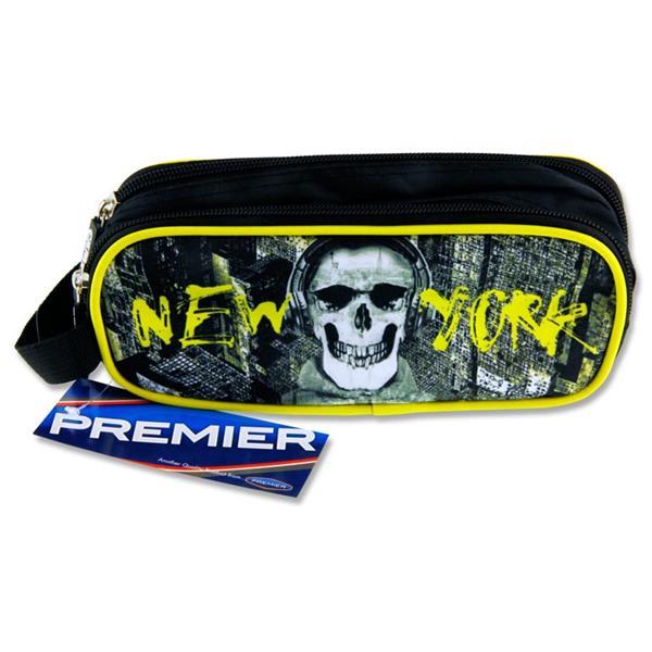 Pencil Case New York Skull