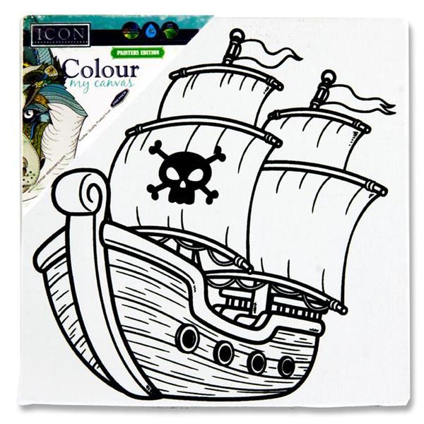 Colour My Canvas Pirate Ship