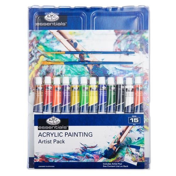 15 Pieces Painting Artist Pack Acrylic