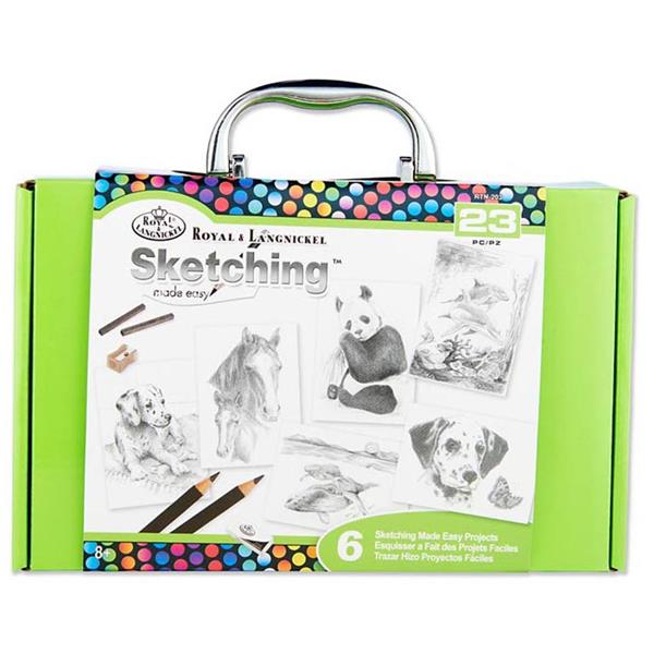 23 Pieces Sketching Made Easy Box Set