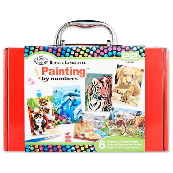 22 Pieces Painting By Numbers Box Set Red