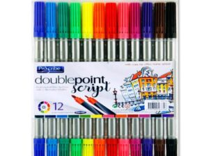 12 Double Sided Thick/thin Markers