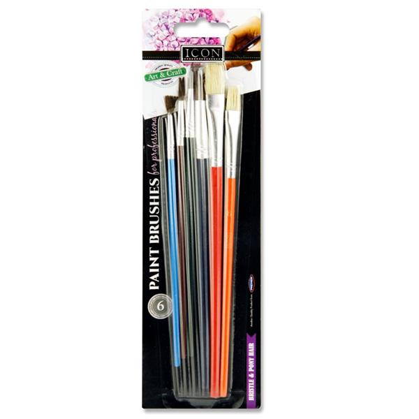 Icon Card 6 Assorted Size Paint Brush
