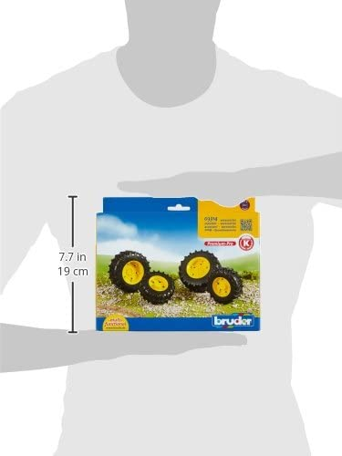 Bruder Twin Tyres With Yellow Rims For 3000 Series