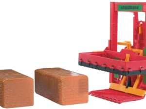 Bruder Silo Block Cutter With Hay Bale