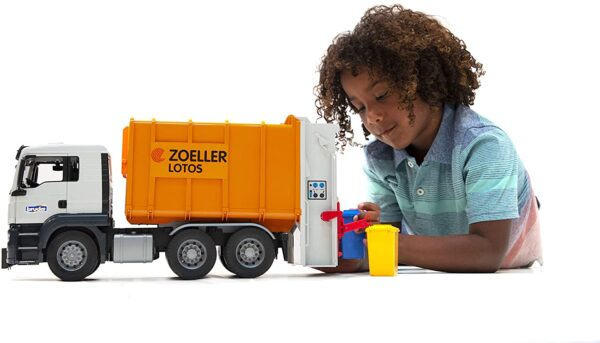 Bruder Man Rear Loading Garbage Truck