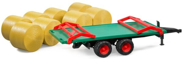 Trailer with Round Bales