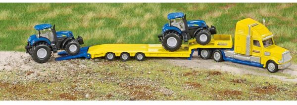 Truck with Two New Holland Tractors