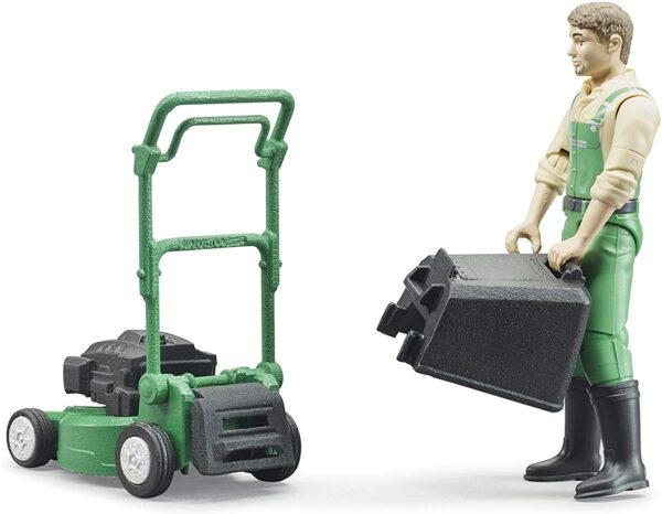 Bruder Gardener With Mower and Accessories