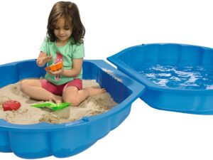 Blue Shell Sandpit With LID