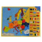 Jigsaw puzzle Europe Map & Flags Puzzle