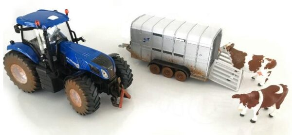 Siku New Holland with Ifor Williams Trailer