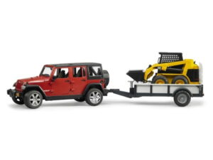 Bruder Jeep Wrangler Rubicon With Trailer Loader