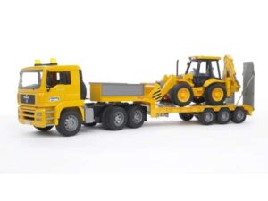 Bruder MB Actros Lowloader Truck With Loader