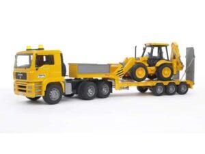 Bruder MB Actros Lowloader Truck With Loader