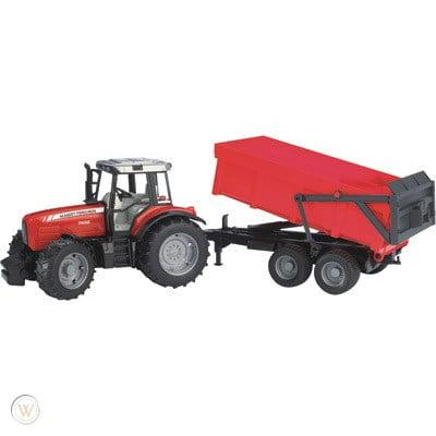 Bruder MF 7840 Tractor & Trailer