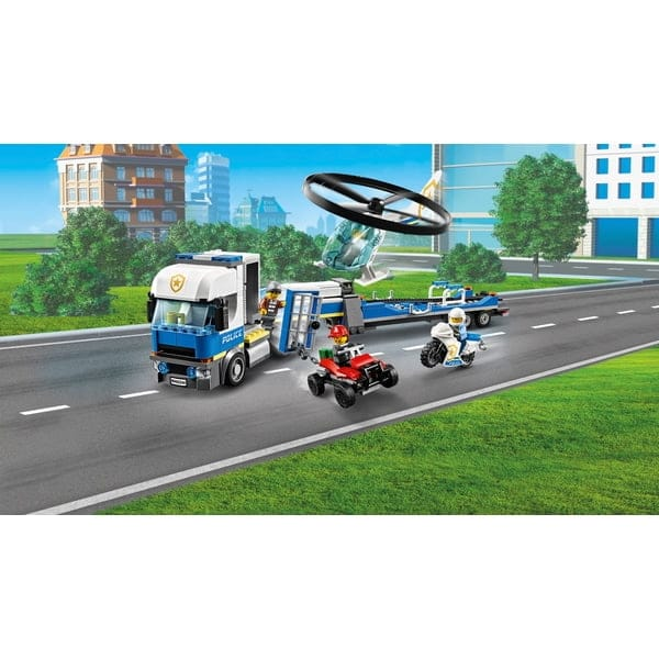 Lego City Police Helicopter Transport Truck Toy
