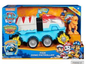 PAW Patrol Dino Rescue Dino Patroller Motorised Team Vehicle with Chase & T-Rex
