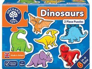 Dinosaurs 2 Piece Puzzles