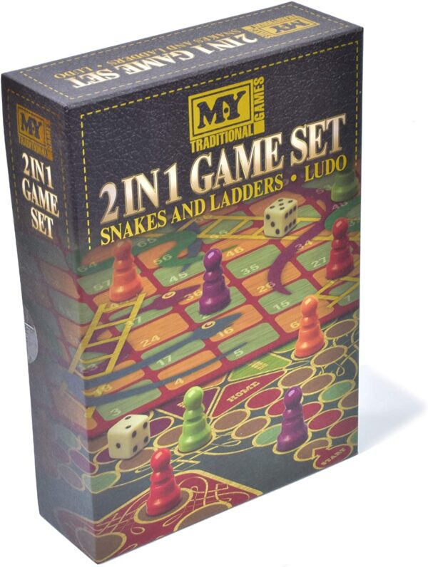 2 In 1 Game Set (Snakes & Ladders and Ludo)