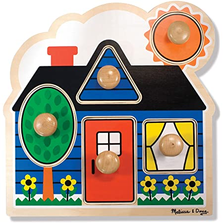 Melissa and Doug 12053 First Shapes Peg Puzzle
