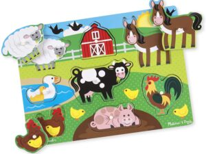 Melissa and Doug Farm Wooden Peg Puzzle (8pcs)