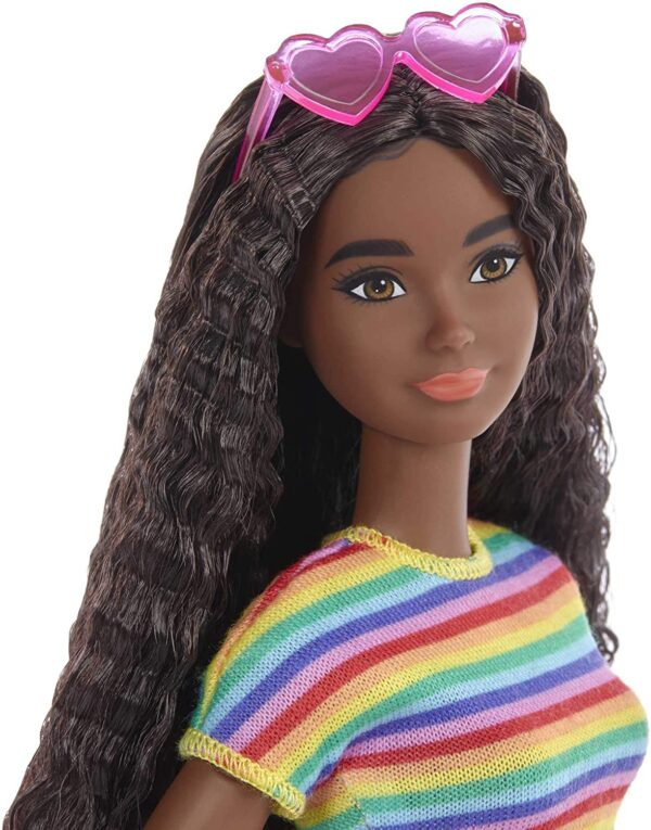 Barbie GRB94 Fashionista Doll With Wheelchair and Ruffled Brown Hair