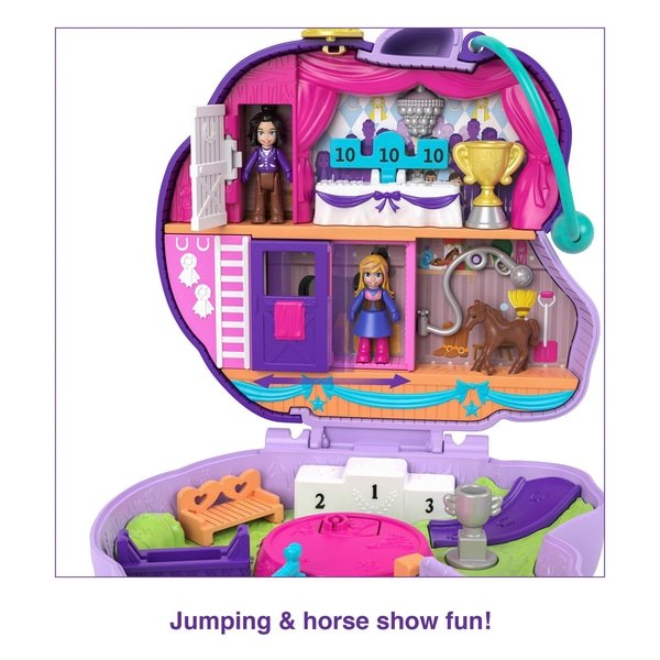 Polly Pocket World Jumpin 'Style Poney Compact