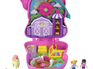 Polly Pocket World On The Farm Piggy Compact