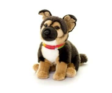 Living Nature 20cm German Shepherd Alsation Puppy Dog Soft Toy Plush