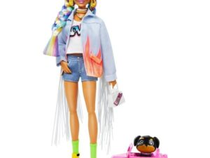 Barbie Extra Doll In Rainbow Braid