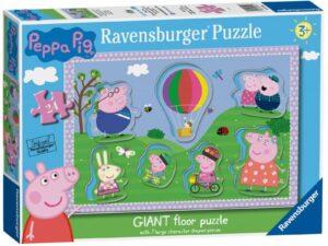 Ravensburger Peppa Pig London Bus 24 Piece Giant Shaped Floor Jigsaw Puzzle