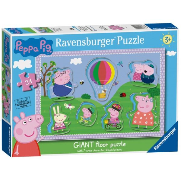 Ravensburger Peppa Pig 24 Piece Giant Floor Puzzle with Large Shaped Character pieces