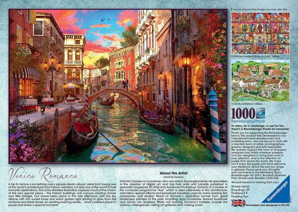 Ravensburger – Venice Romance 1000 Piece Jigsaw Puzzle for Adults & for Kids Age 12 and Up