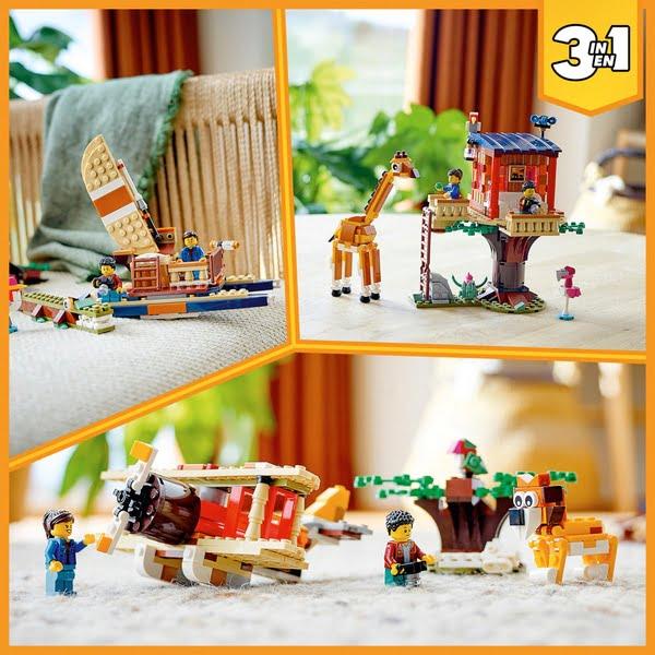LEGO 31116 Creator 3 in 1 Safari Wildlife Tree House Set
