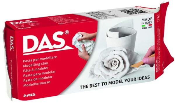 Das 1kg White Air Hardening Modelling Clay