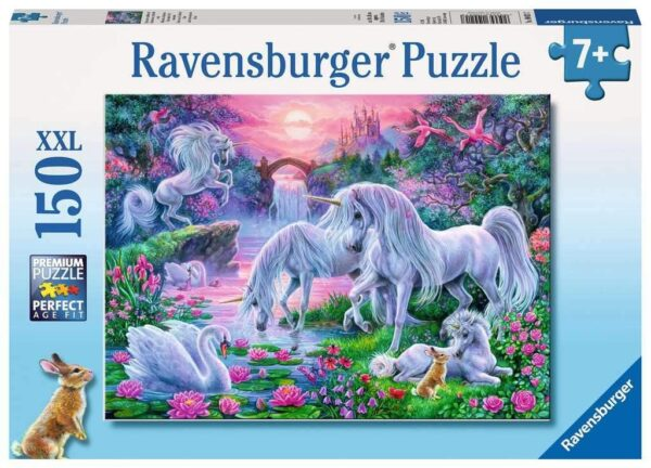 Ravensburger Unicorns in Sunset Glow 150 piece Jigsaw Puzzle with Extra Large Pieces