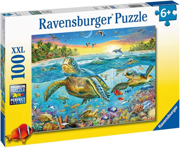 Ravensburger Swim with Sea Turtles 100 Piece Jigsaw Puzzle