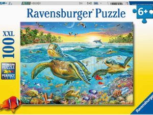 Ravensburger Swim with Sea Turtles 100 Piece Jigsaw Puzzle