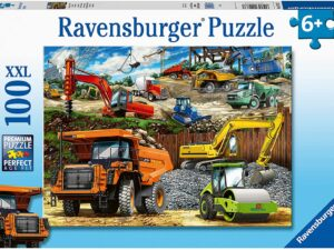 Ravensburger 12973 Construction Vehicles 100 Piece Jigsaw Puzzle