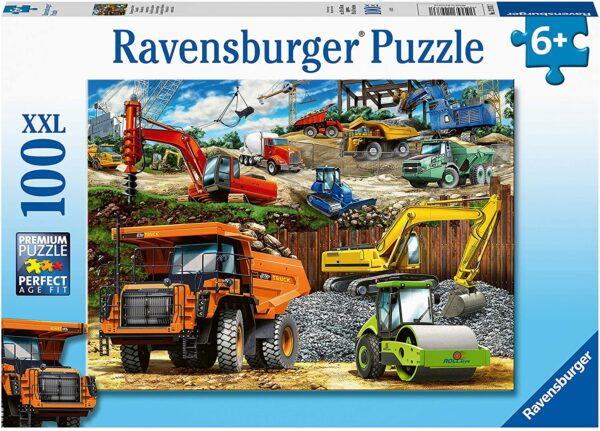 Ravensburger 12973 Construction Vehicles 100 Piece Jigsaw Puzzle