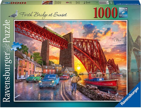Ravensburger 16766 Forth Bridge at Sunset 1000 Piece Jigsaw Puzzle