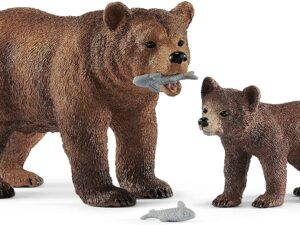 Schleich 42473 Wild Life Grizzly Bear Mother with Cub