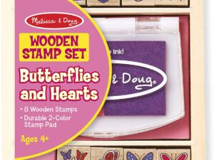 Melissa & Doug 12415 Butterfly and Heart Wooden Stamp Set