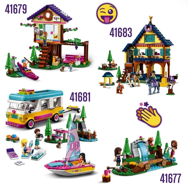 LEGO 41679 Friends Forest House Treehouse Toy Adventure Set