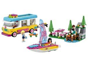 LEGO 41681 Friends Forest Camper Van & Sailboat Toy Set