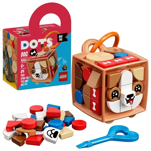 LEGO 41927 DOTS Bag Tag Dog Accessories Craft Set for Kids